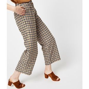 Minimum 'Halea' Plaid Wide Leg Trousers